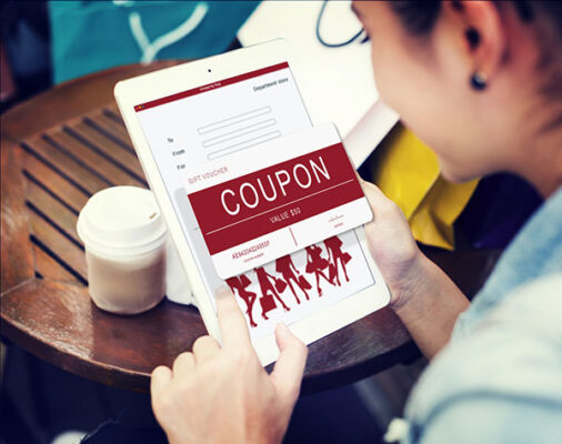 Coupon Code on Tablet