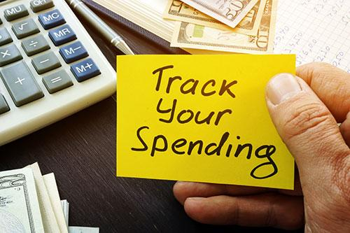 Track Your Spending Post It Note